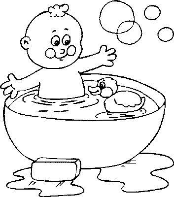 Bath Coloring Page | PicGifs.com