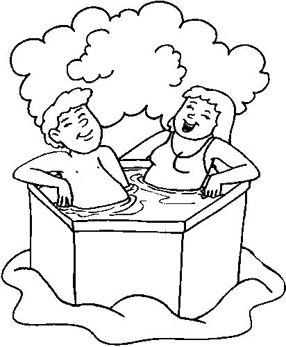 coloring pages bathtubs - photo#33