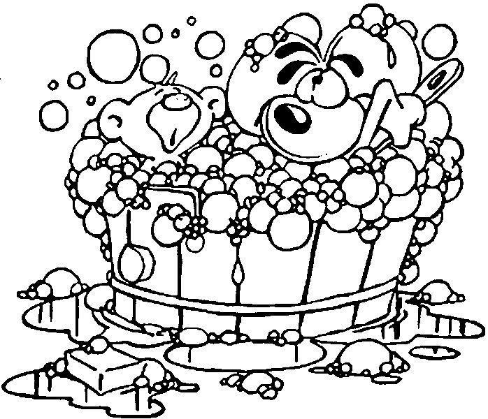 bath coloring pages - photo#16