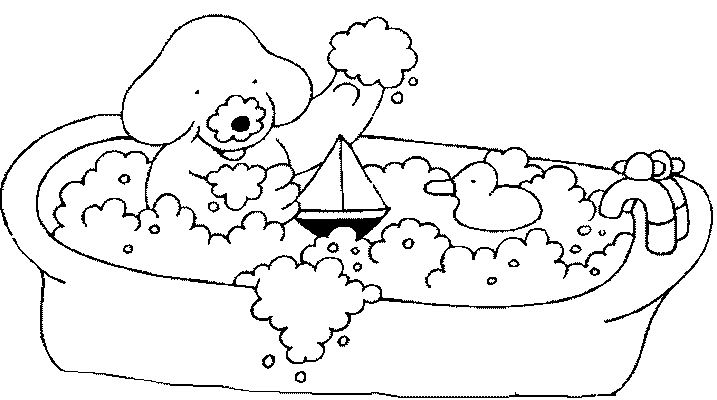 bathroom coloring pages - photo#23