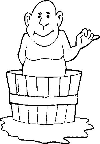 Bath coloring pages