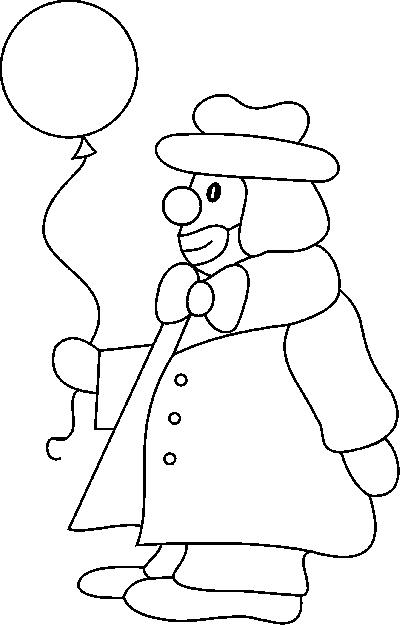 Clowns coloring pages