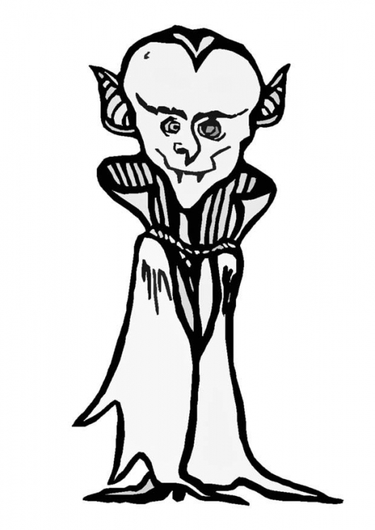 Dracula coloring pages