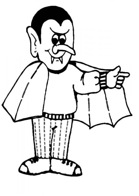 Coloring Page Dracula | PicGifs.com