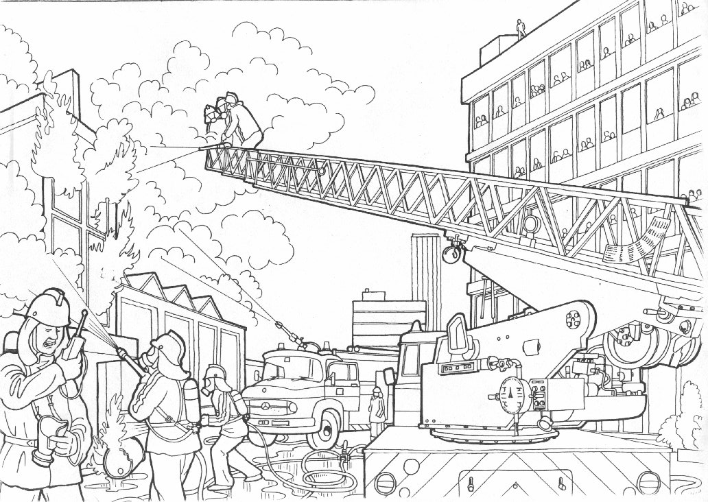 Coloring pages Fireman