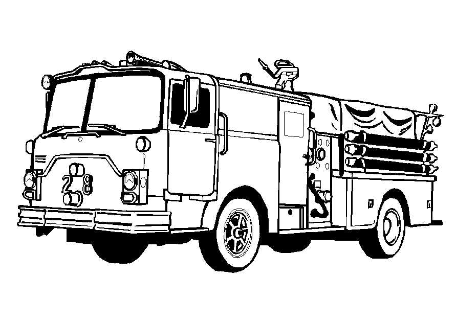 Truck coloring pages