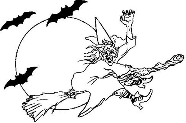 Witch coloring pages