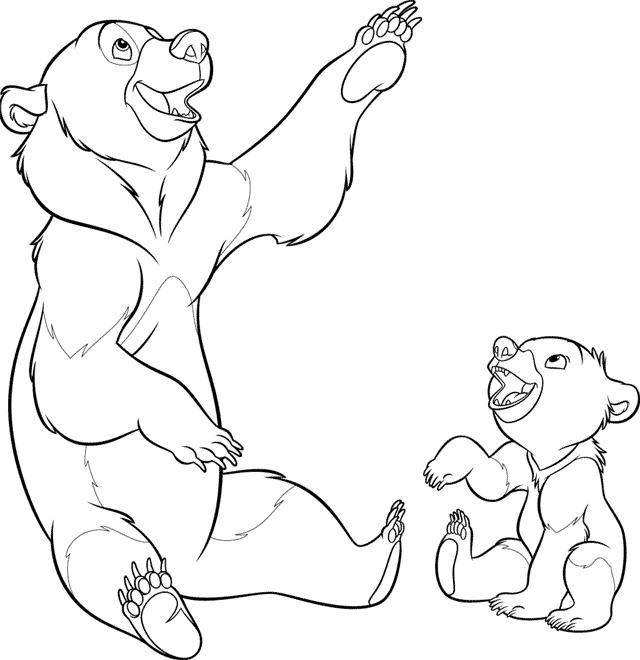 disney brother bear coloring pages coloring pages