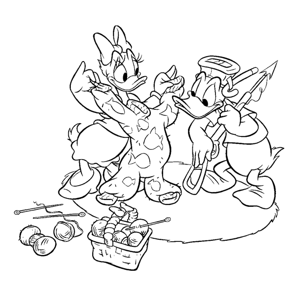 donald duck coloring pages disney coloring pages - Donald Duck Coloring Pages