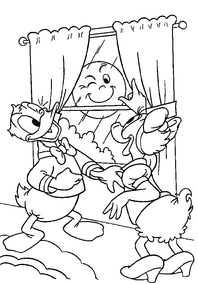 Donald Duck Coloring Page Disney Coloring Page Picgifs Com