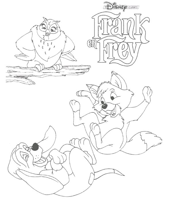Frank and frey coloring pages
