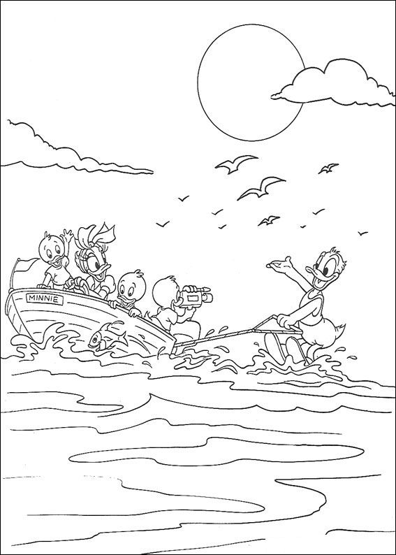 Huey dewey and louie coloring pages