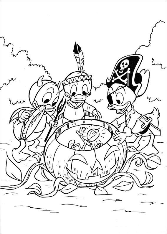 Coloring Pages Disney Huey Dewey And Louie