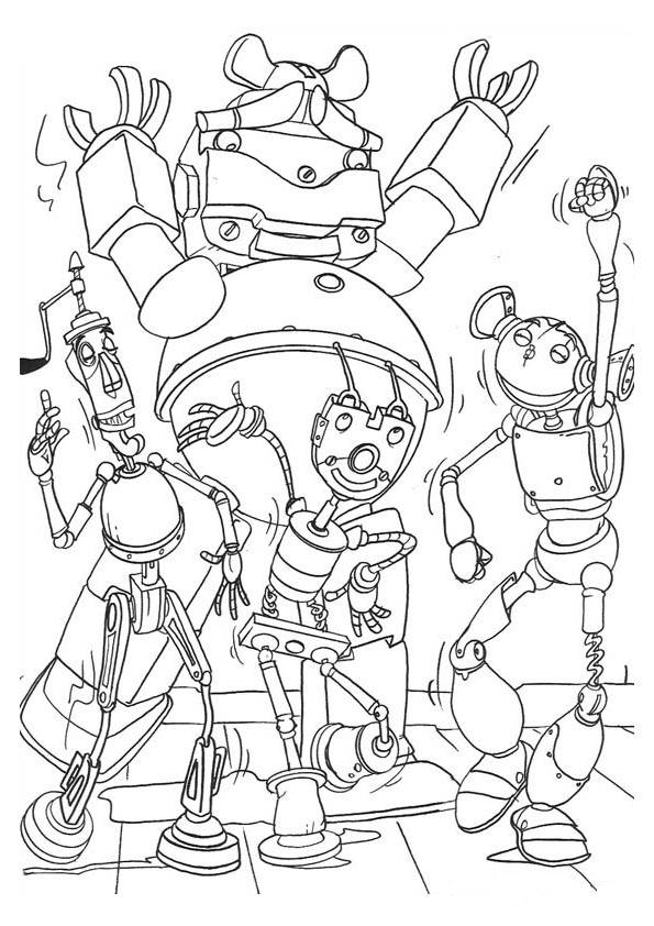 robots coloring pages. Black Bedroom Furniture Sets. Home Design Ideas