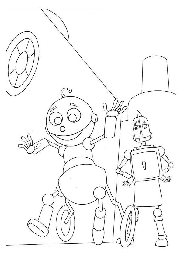 Coloring Page Robots coloring