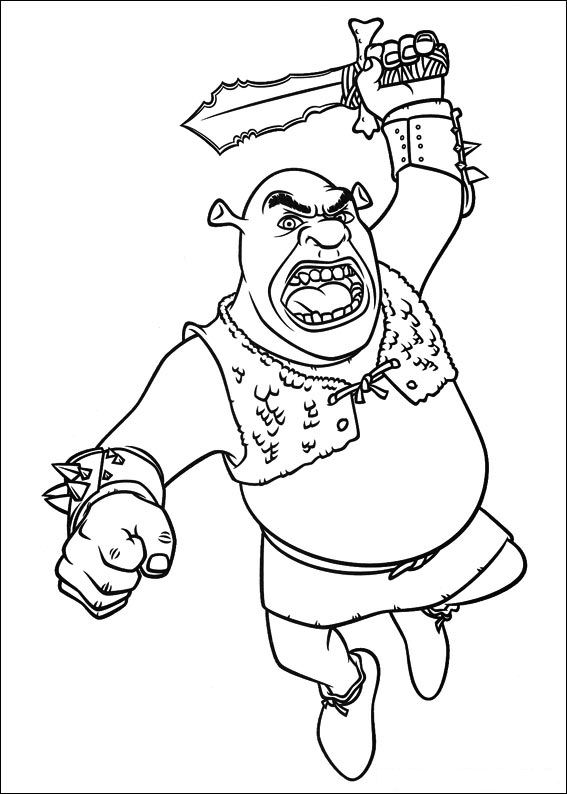 coloring page disney coloring page shrek 4 picgifscom - Shrek Coloring Pages