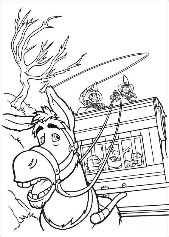Coloring Page Disney Coloring Page Shrek 4 PicGifscom