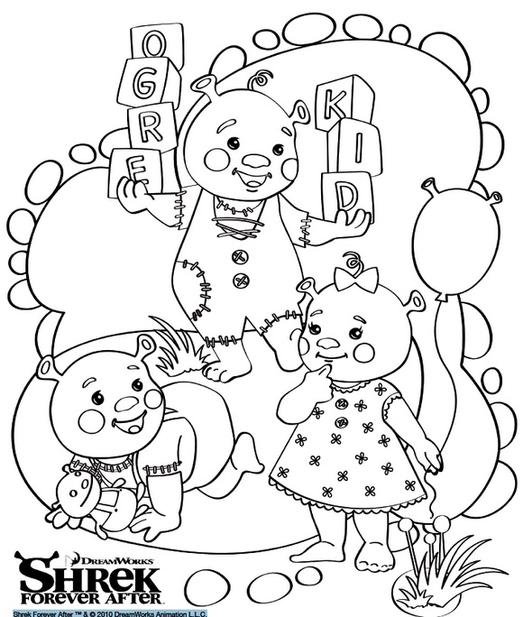 ogre baby shrek coloring pages - photo #36