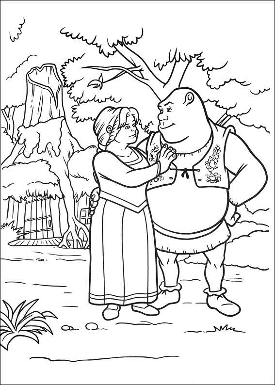 shrek dragon coloring pages - photo#18
