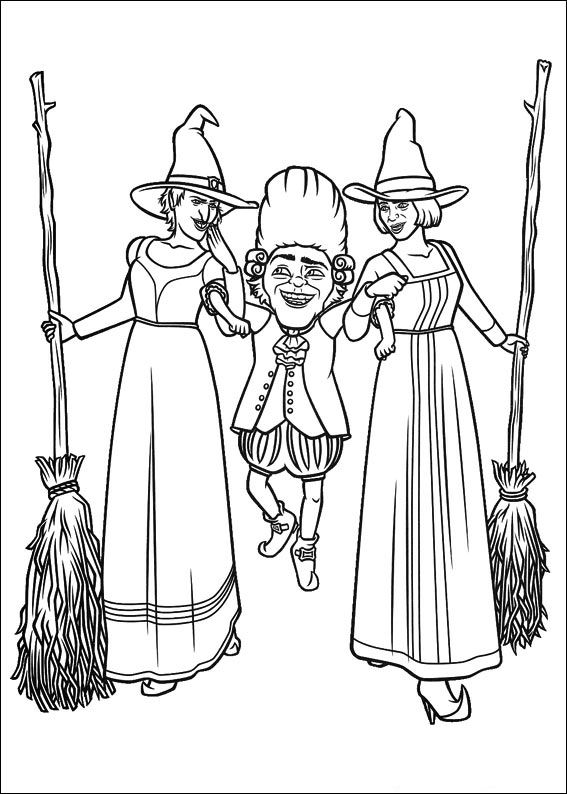 Coloring pages Disney coloring pages Shrek 4