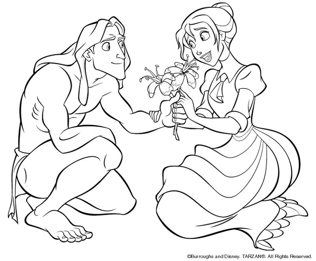 Tarzan Coloring Pages | PicGifs.com