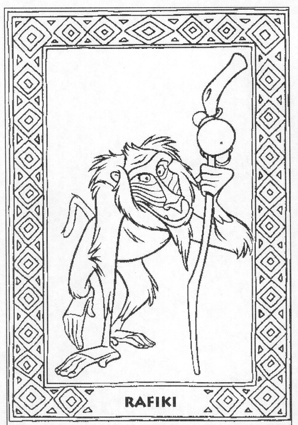Deck of cards king coloring pages coloring pages for Disney lion king coloring pages