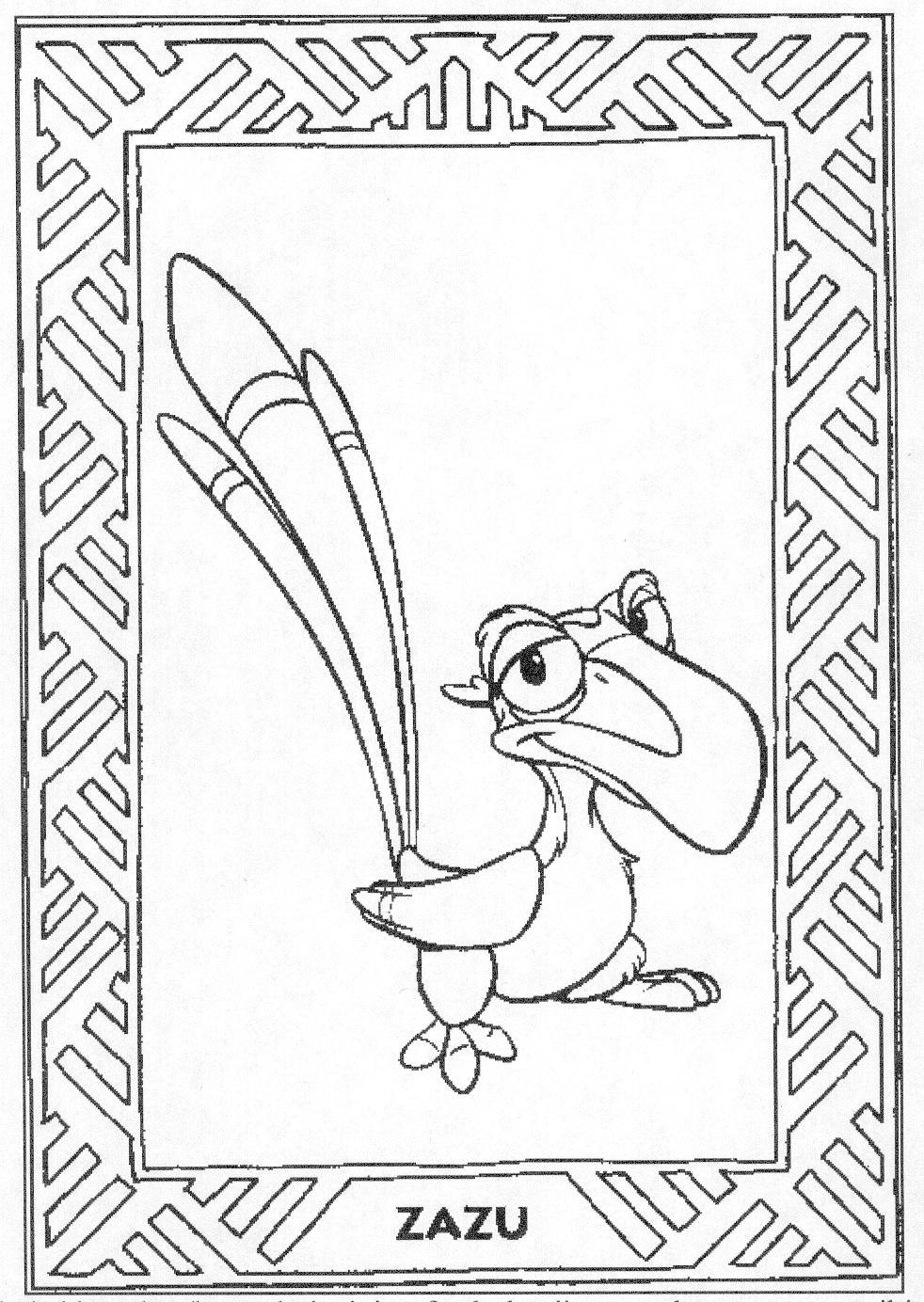 coloring page disney coloring page the lion king. Black Bedroom Furniture Sets. Home Design Ideas