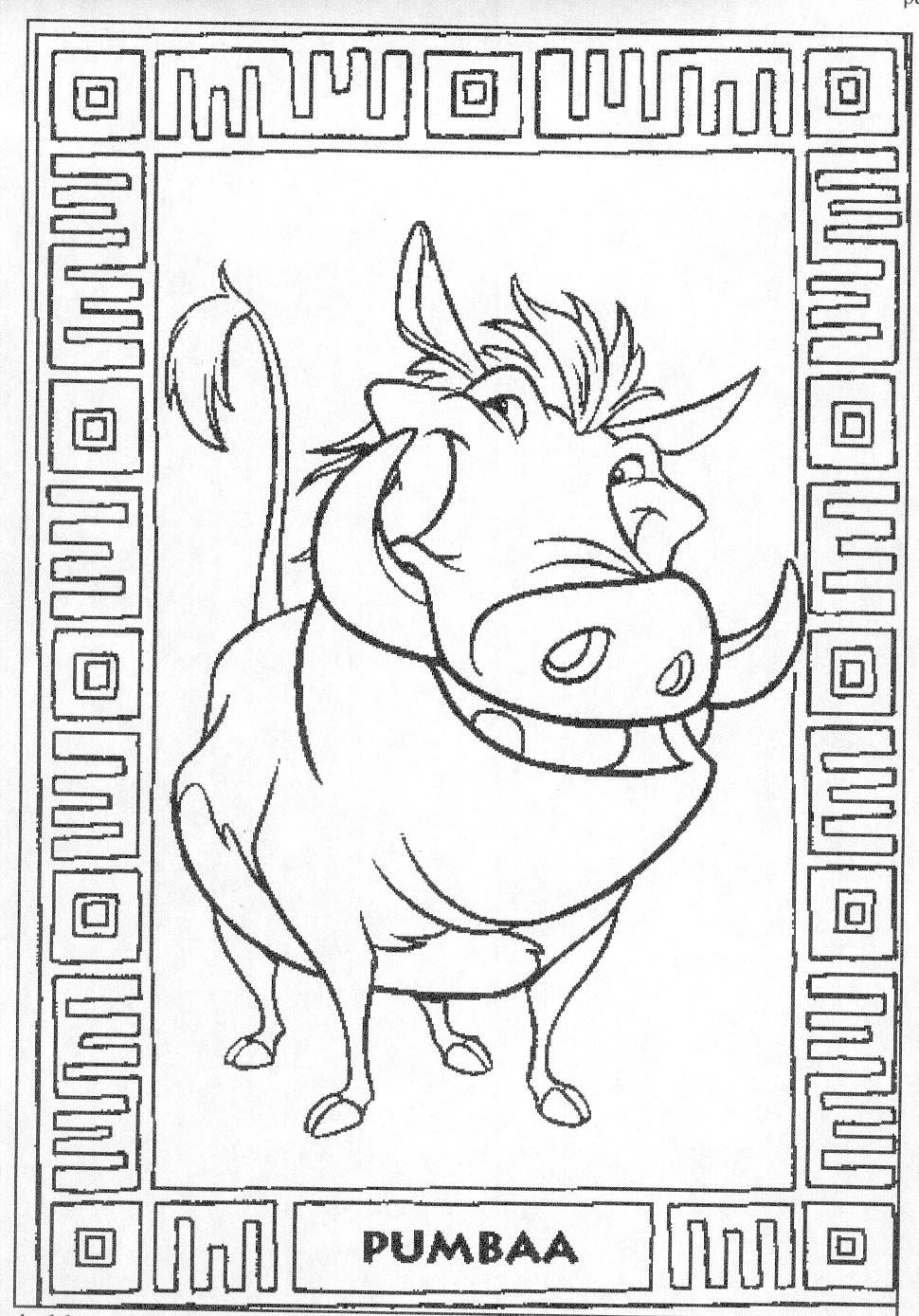 Coloring Pages Disney The Lion King