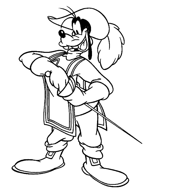 Coloring pages Disney coloring pages The three musketeers
