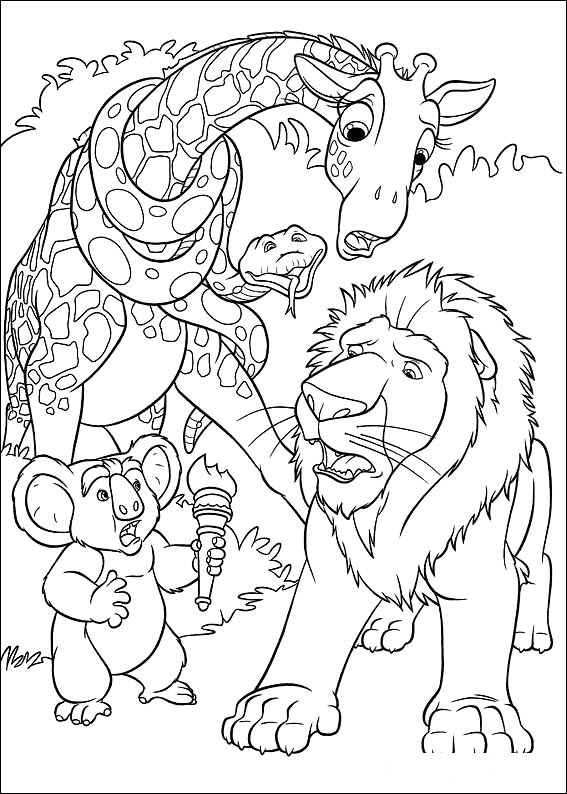 Coloring Page Disney Coloring Page The Wild | PicGifs.com
