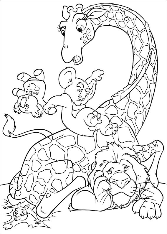 Wild kratts animal coloring pages coloring pages Crazy animals coloring book