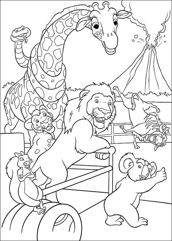 Coloring page the wild pages