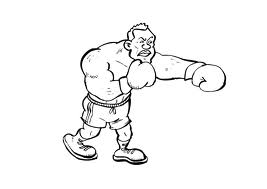 Coloring pages Sport coloring pages Boxing