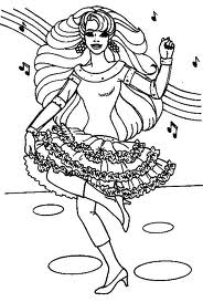 Coloring pages Sport coloring pages Dance