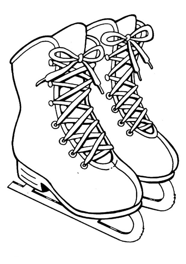 Skate Coloring Pages Skating Coloring Pages