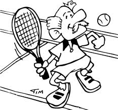 Tennis coloring pages