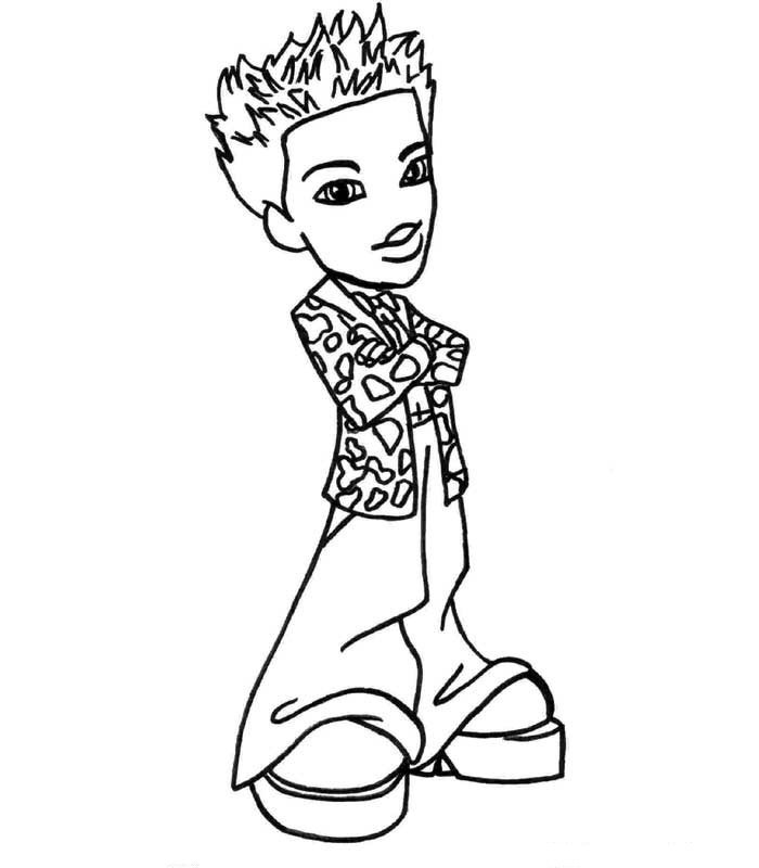 baby bratz free coloring pages - photo #31