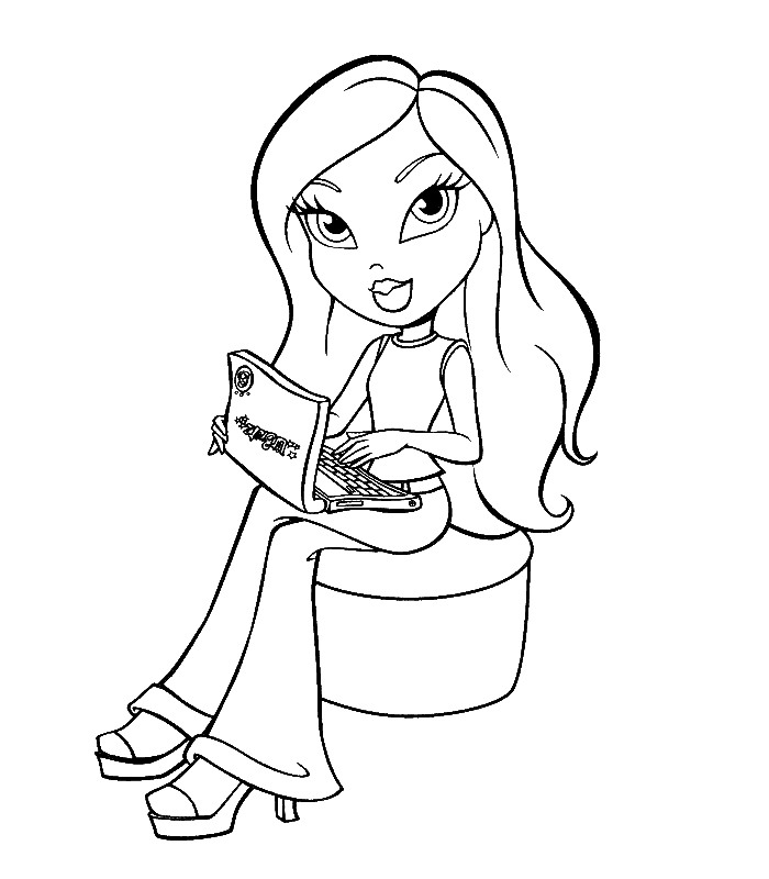 baby bratz free coloring pages - photo #37