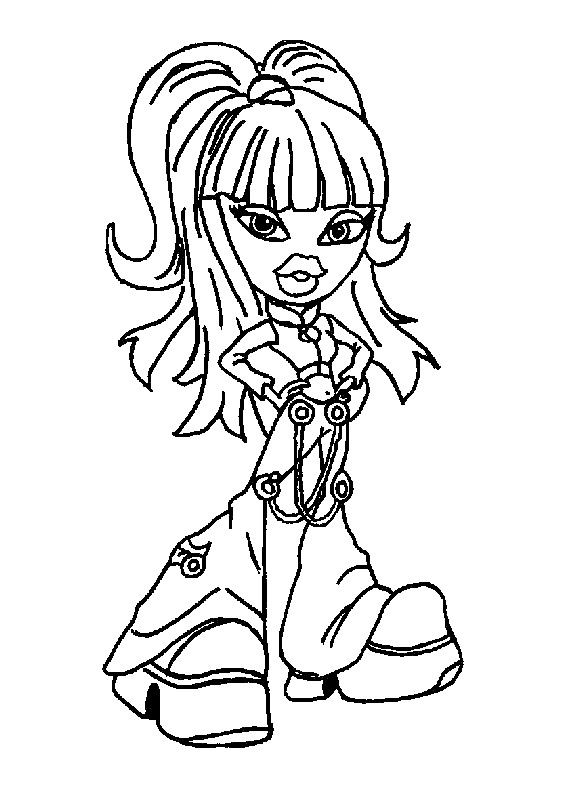 Bratz Coloring Page Tv Series Coloring Page PicGifscom