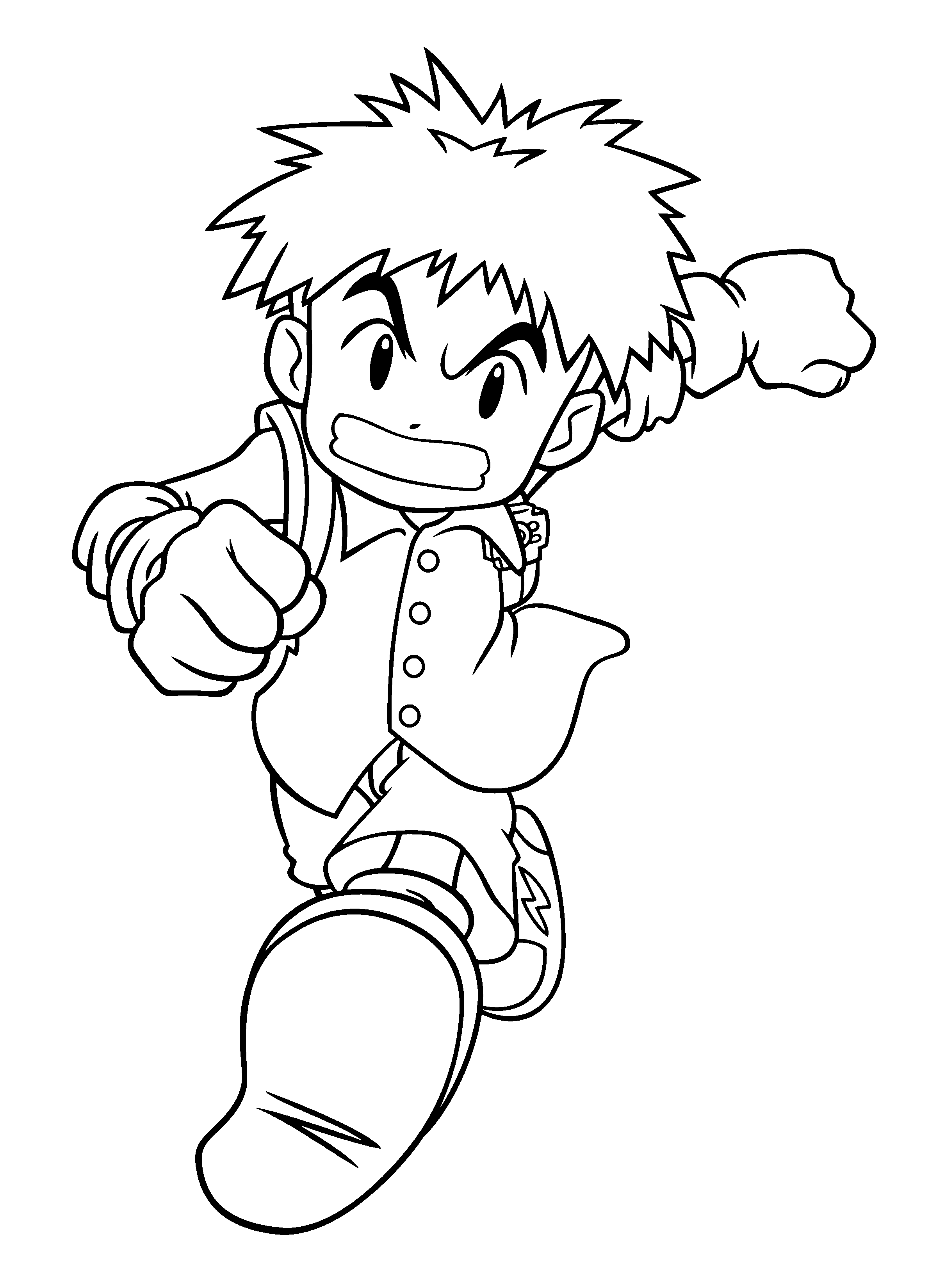 new digimon coloring pages - photo#13