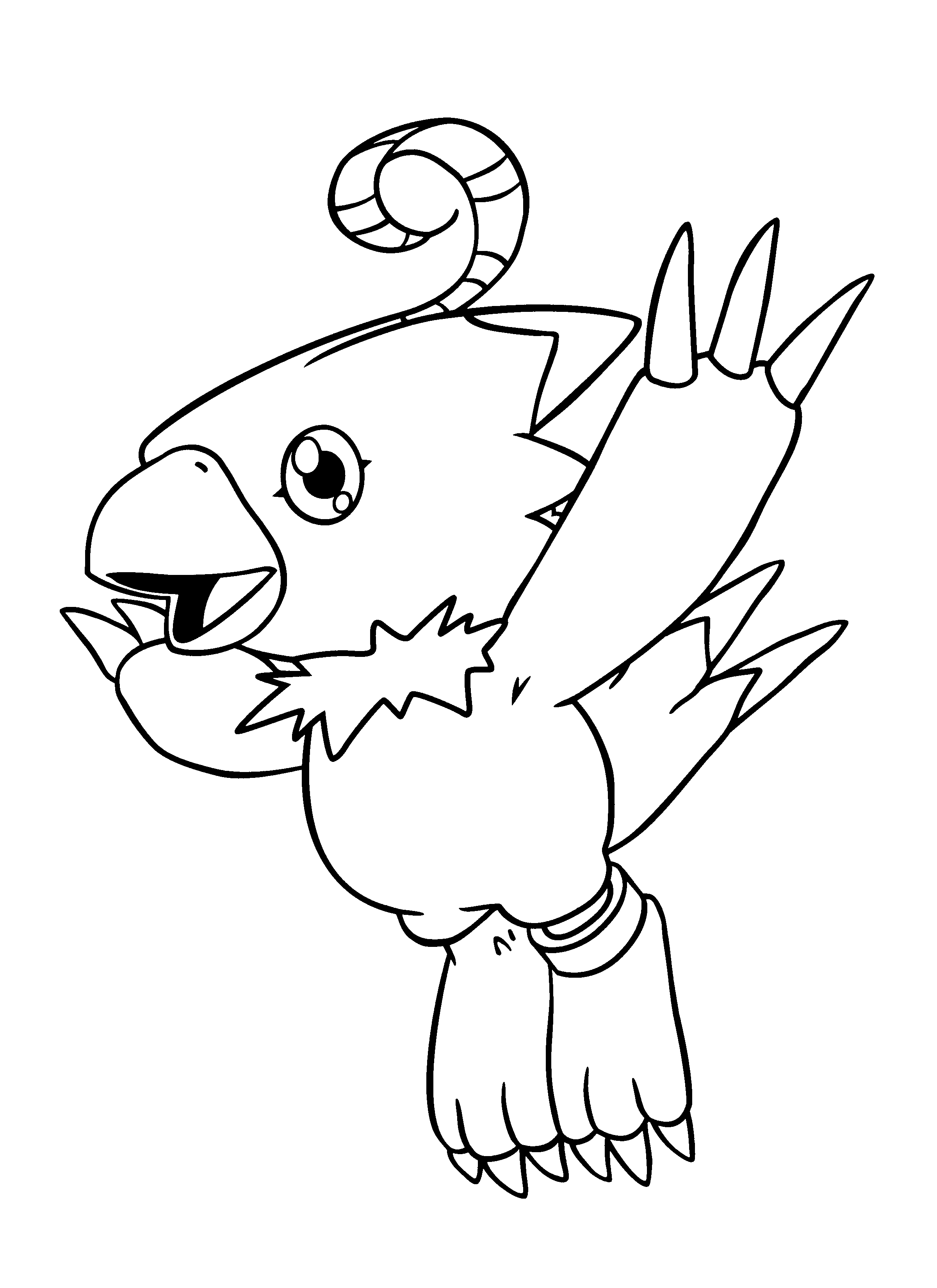 Coloring pages Tv series coloring pages Digimon