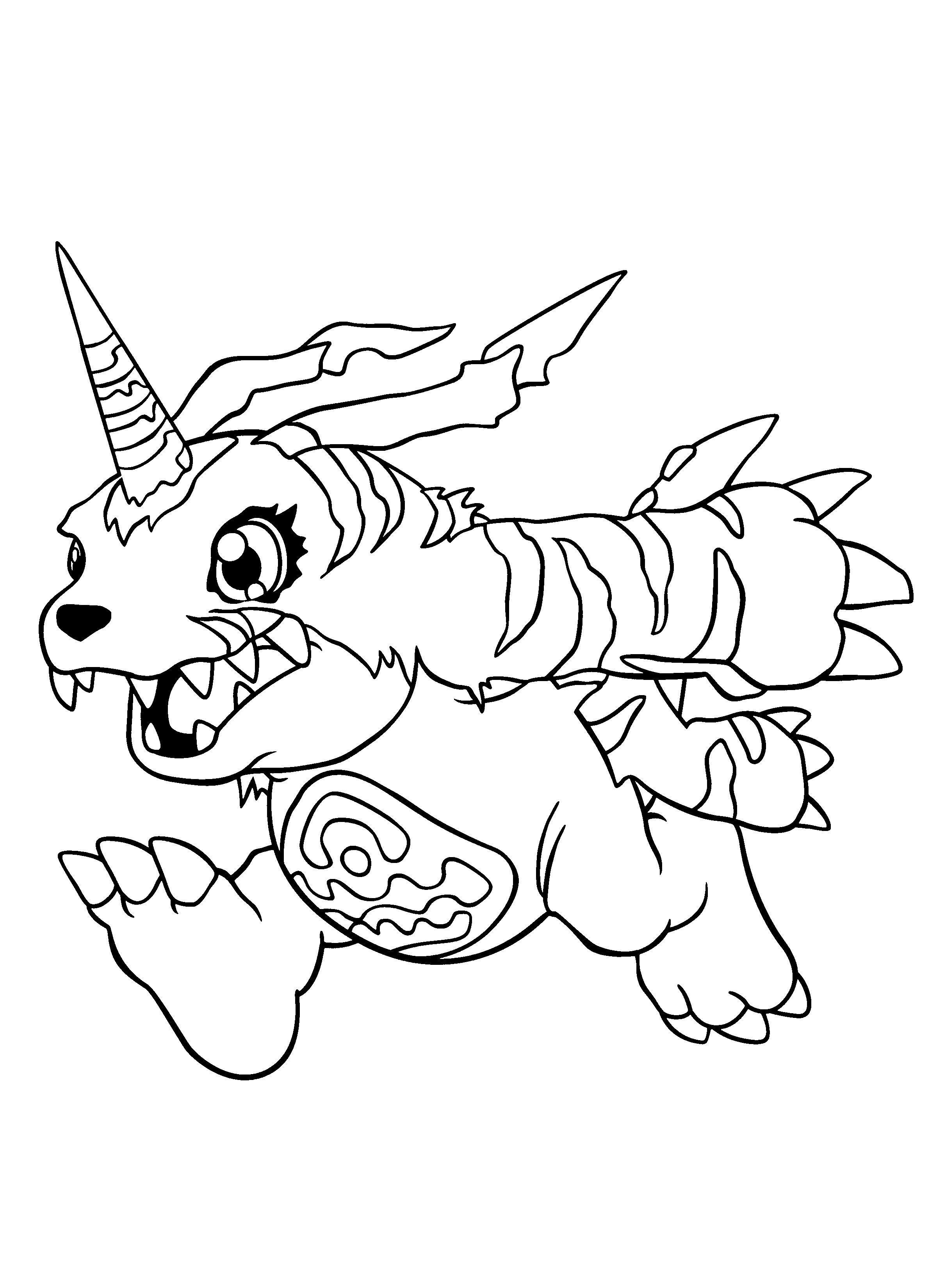 digmon coloring pages - photo#6