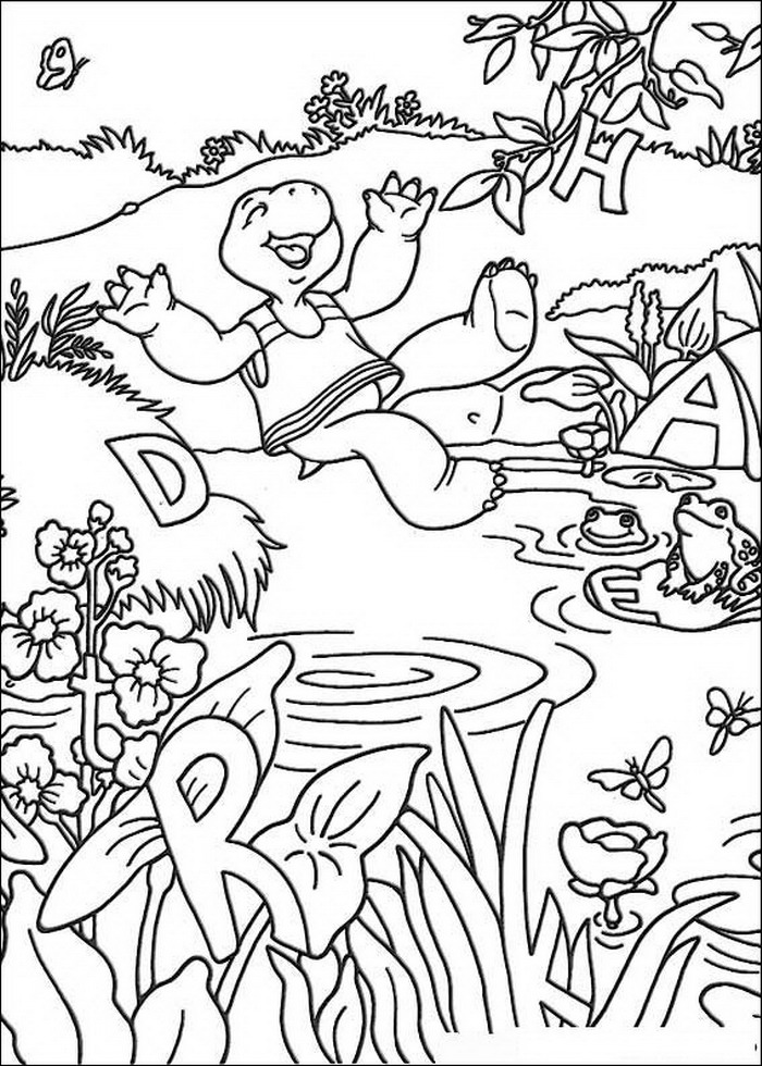 Coloring pages Tv series coloring pages Franklin