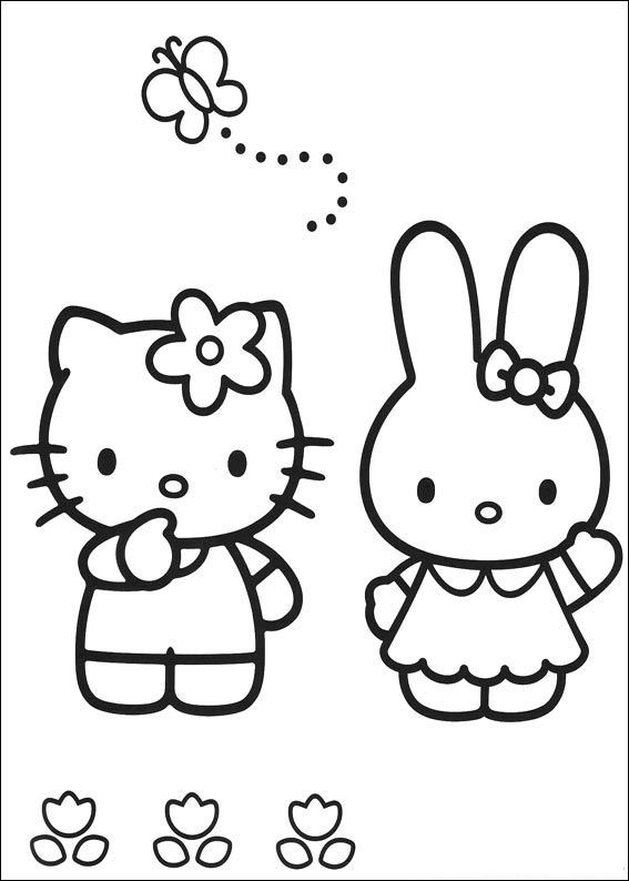 Hello Kitty Coloring Page Tv Series Coloring Page Picgifs Com