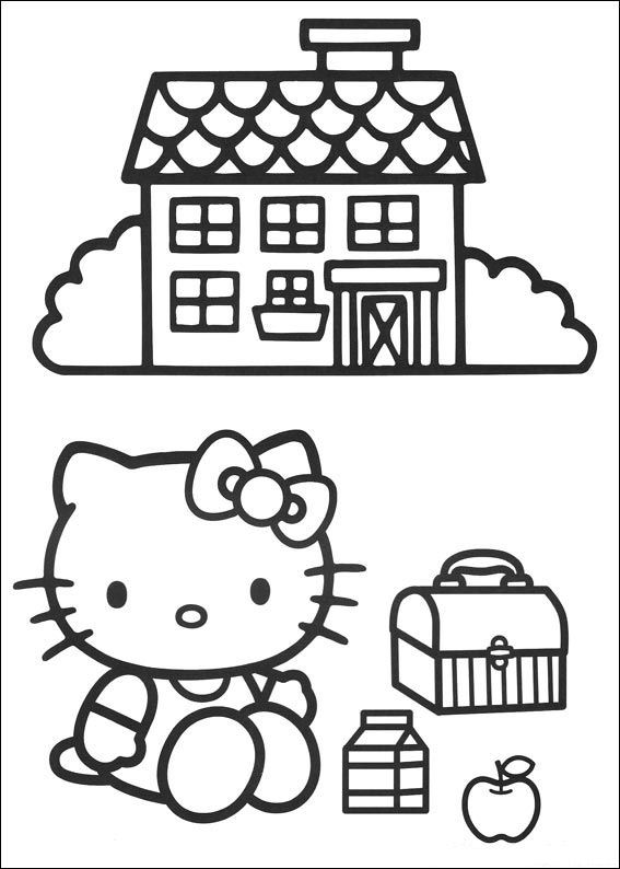 Hello Kitty Soccer Coloring Pages : Coloring page hello kitty pages
