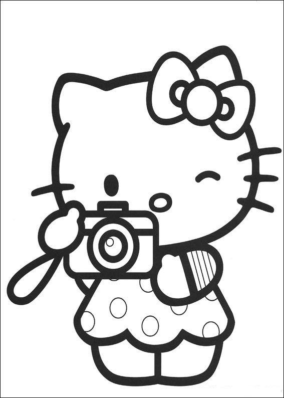 coloring page hello kitty coloring pages 28