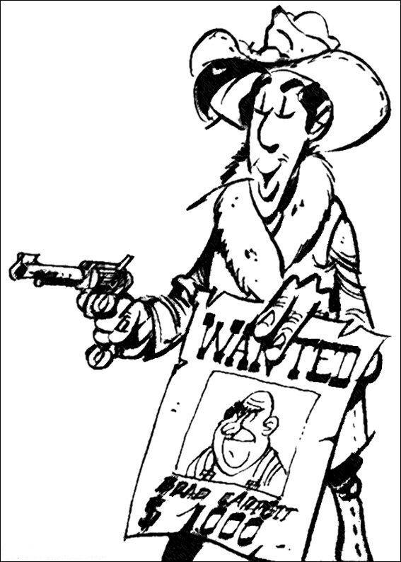 Lucky luke coloring pages