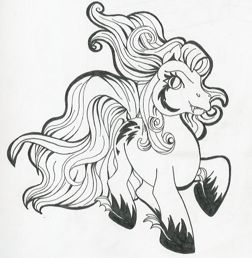 My Little Pony Anime Coloring Pages : Mlp anime coloring pages