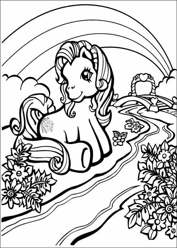 My Little Pony Coloring Page Tv Series Coloring Page  Picgifscom