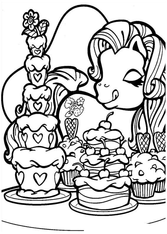 My little pony coloring pages tv series coloring pages